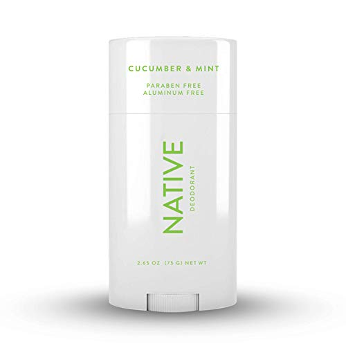 Native Deodorant - Natural Deodorant for Men and Women - Vegan, Gluten Free, Cruelty Free - Contains Probiotics - Aluminum Free & Paraben Free, Naturally Derived Ingredients - Cucumber & Mint