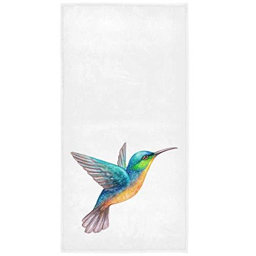 Toallas de mano de colibrí tropical exótico Toalla de baño de primavera verano Toalla de baño suave absorbente Grungy Floral Toalla de baño pequeña Plato de cocina Toalla para invitados (40x70cm)