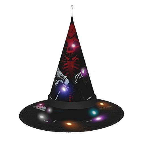 AOOEDM Sombrero de Bruja de Halloween Fiesta Cosplay Decoracin Devil May Cry Sombrero de Bruja para Mujer Disfraz Accory Negro