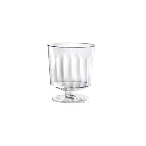 Party Essentials N223021 Copos de vinho de plástico, 1 peça, mini provadores de 60 ml, 20 unidades, transparente