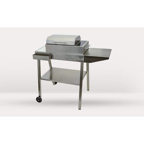 Lowest Prices! 23 S 14.5'' Portable Electric Grill with Side Shelves