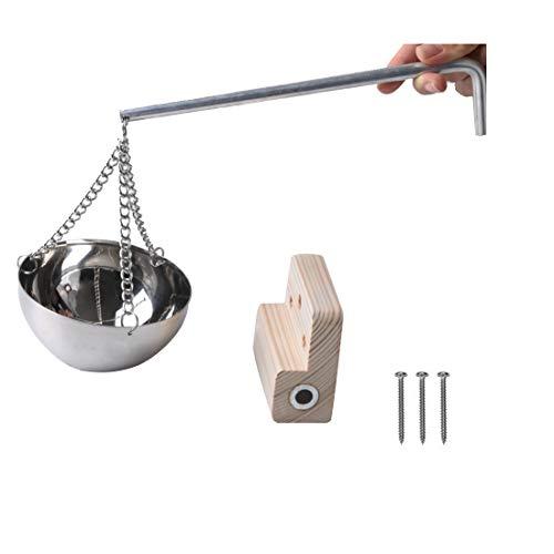 RUN-snail Hanging Sauna Aromatherapy Oil Holder—Stainless Steel...