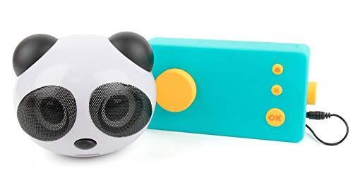 DURAGADGET Mini Enceinte Forme Panda/Haut-Parleur Prise Audio Jack et USB Compatible avec Lunii, ma Fabrique à Histoires