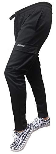 Otomix Women's Cargo Jogger Workout Pants (Black) (Large)