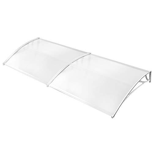 Froadp 300x90cm Exterior Toldo Marquesina de protección Impermeable para Terrazas Canopy(Blanco)