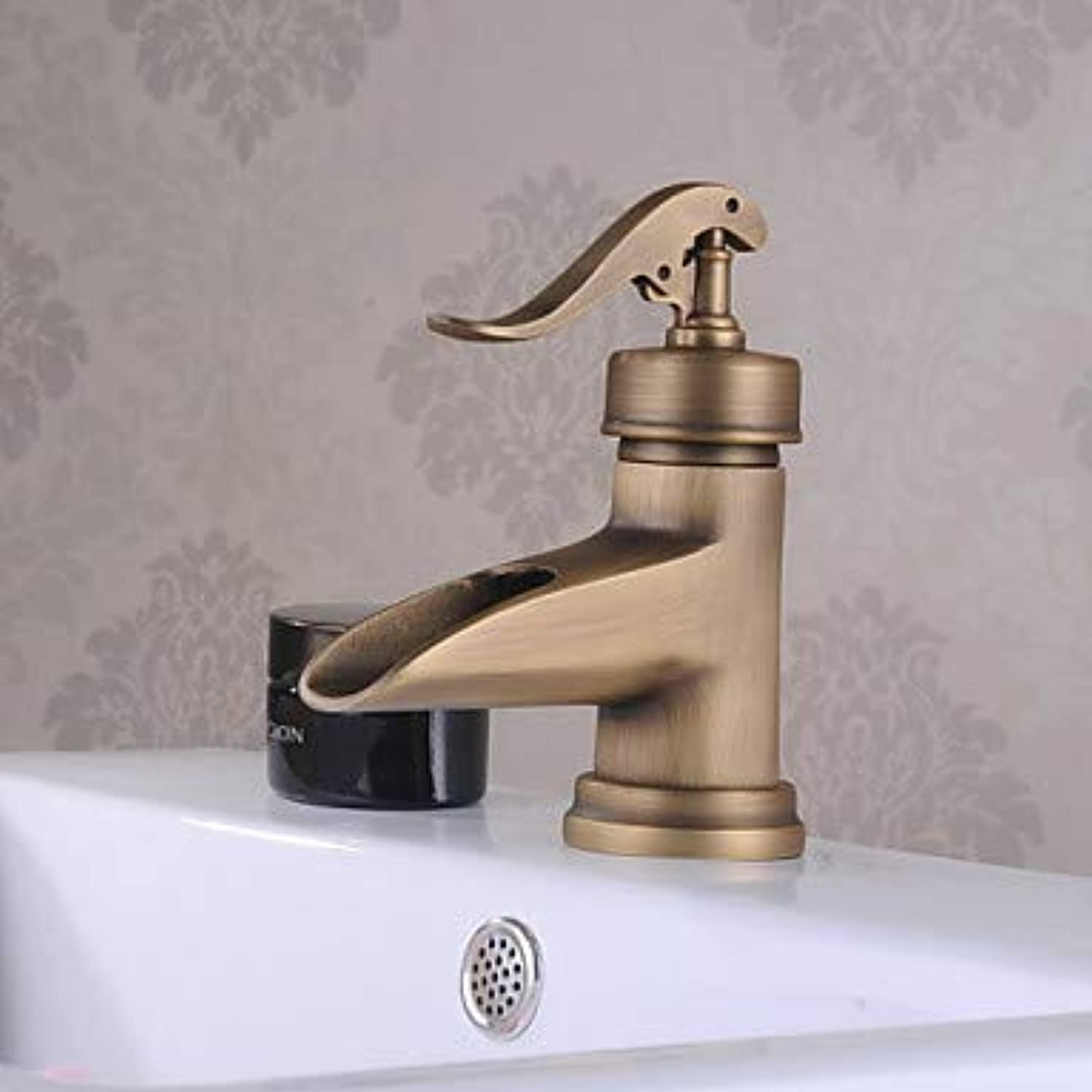 Mangeoo Traditional Deck Mounted Ceramic Valve Single Handle One Hole Chrome, Bathroom Sink Faucet