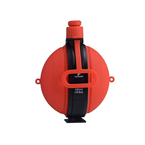 Botella De Agua Militar Plegable Cantimplora De Agua De Silicona De Nuevo Diseño Con Tapa De Botella De Agua Vintage Compass Drinkware, Rojo, 580 Ml