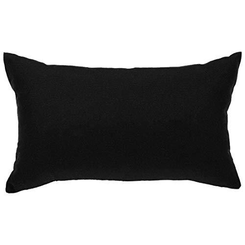 N/D - Funda de almohada lumbar de granja negra, juego de fundas de cojín rectangular decorativas, fundas de almohada para sofá, dormitorio, silla de coche, 30 x 50 cm