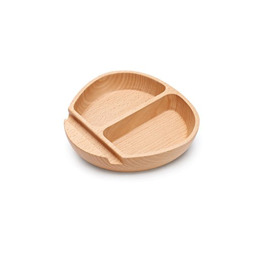 NYDZDM Plateau en bois de fruit de loisirs, bol de salade de articles ménagers de qualité supérieure, boîte de rangement de dessert de sucrerie multifonctionnelle de casse-croûte, 17.5 * 16.8 * 3.6cm.