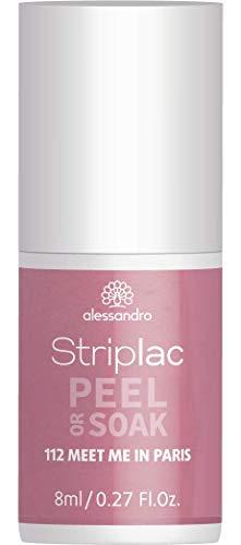 alessandro Striplac Peel or Soak Meet me in Paris – LED-Nagellack in Taupe-Violett – Für perfekte Nägel in 15 Minuten – 1 x 8ml