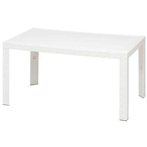 不二貿易 ガーデン ステラテーブル プラスチック 80×140cm ホワイト