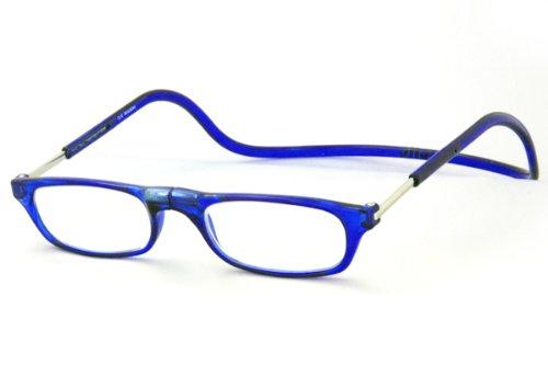 クリックリーダーレギュラータイプ ブルー 度数+2.00 専用ケース付き 既成老眼鏡