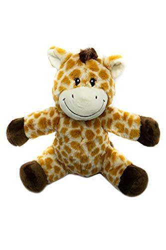 Peluche Giraffa Riscaldabile al Microonde con Semini Miglio 23 cm | Cuscino Termico Rimovibile