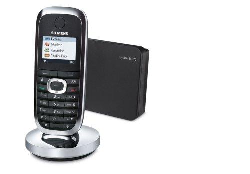 Siemens Gigaset SL370 in mattschwarz Dect Telefon