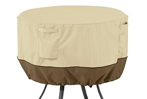 Classic Accessories 55-568-011501-00 Veranda Water-Resistant 36 Inch Round Patio Table Cover,Pebble,Medium