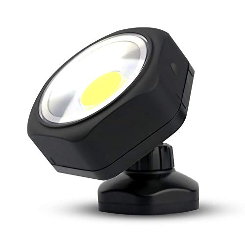 PowerFirefly 250 Lumens COB LED Rotating Work Light with Strong Magnetic Base, Ultra Bright Magnetic LED Light, Magnet Light, Spotlight for Car Repair, Workshop, Home Using and Emergency