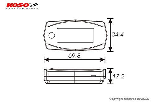 KOSO Dual Thermometer Mini 4 (Batterie) bis 250 Grad