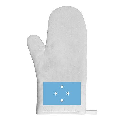 Mygoodprice Ofenhandschuh Topflappen Flagge Mikronesien