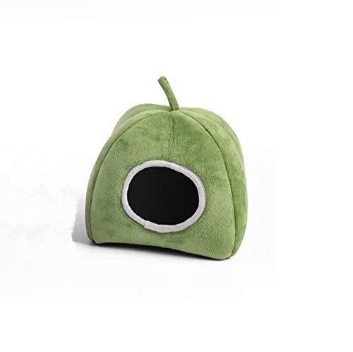 EPRHAN Casa de hámster de algodón para invierno, linda jaula de animales pequeños jugando para dormir nido para mascotas, juguetes para ratas, conejillo de indias, ardillas, jerbos, color verde