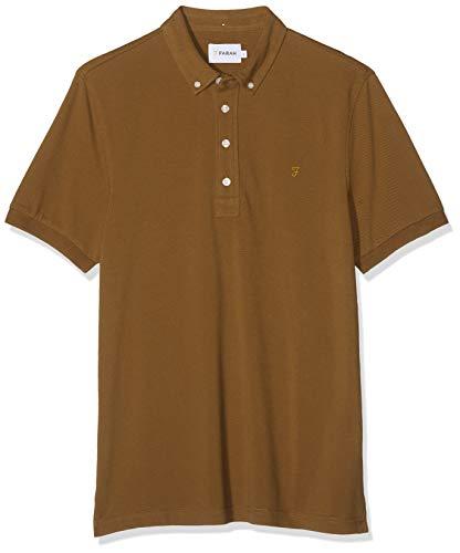 FARAH® Herren Ricky Poloshirt, Braun (Spanish Brown 243), Large