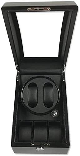 PLMOKN RADIADOR DE Reloj AUTOMÁTICO, Caja de enrollamiento de coctelera mecánica en la Caja de Almacenamiento de la Caja de Giro, A (Color: B) (Color : Black, Size : 25.5x19x21cm)