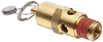 """Control Devices SA Series Brass ASME Safety Valve, 200 psi Set Pressure, 1/4"""" Male NPT by Control Devices"""
