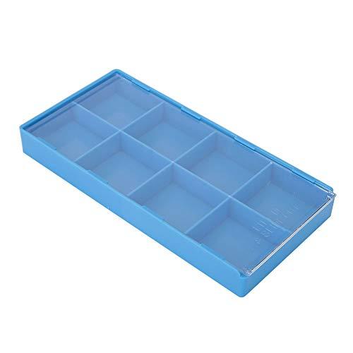 Schmuck Perlen, Ringe und Uhrenteile (8 Grid/18 Grid)[8], Kunststoff Organizer Aufbewahrungsbox Fach Big Clear Slot Box für Nail Art WerkzeugeZubehör