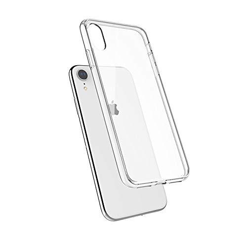 QDOS Hybrid Cover - Custodia protettiva per iPhone Xr, Assorbimento degli urti e Protezione dello schermo, Bordi rinforzati in TPU - Colore Trasparente