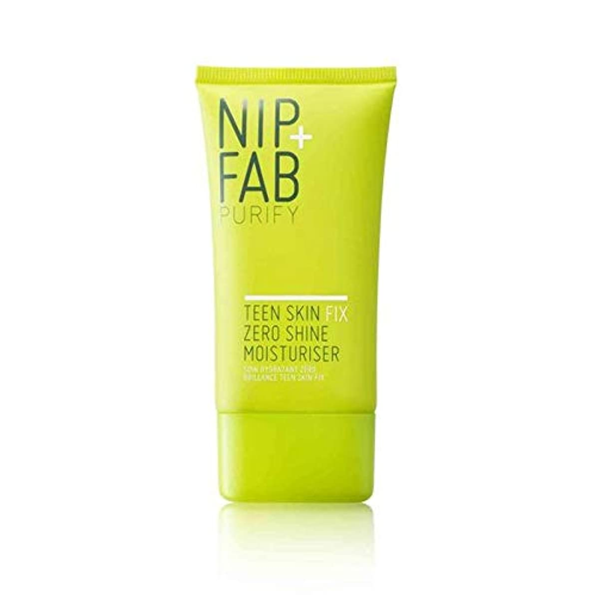[Nip & Fab ] + Fab十代の肌ニップゼロ輝き保湿40ミリリットルを修正 - Nip+Fab Teen Skin Fix Zero Shine Moisturiser 40ml [並行輸入品]