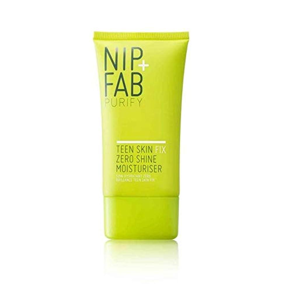 適切なシェードスリーブ[Nip & Fab ] + Fab十代の肌ニップゼロ輝き保湿40ミリリットルを修正 - Nip+Fab Teen Skin Fix Zero Shine Moisturiser 40ml [並行輸入品]