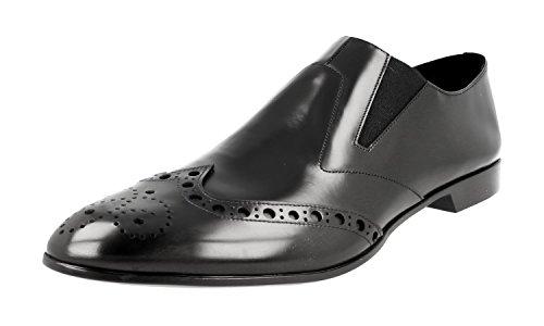 Prada Herren Schwarz Budapester Leder Business Schuhe 2OG038 B4L F0002 44 EU/UK 10