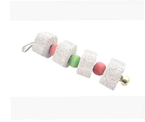 Bird Chew Toy Molienda Bite Juguete Colorido Dientes Molares Piedra Juguetes Loros Suministros Suministros para Mascotas