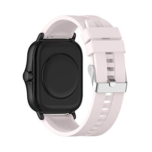 BoLuo 20mm Silicona Correa Compatible con Galaxy Watch 3 41mm,Correas Reloj,Bandas Correa Repuesto,Reloj Recambio Brazalete Correa Repuesto para Galaxy Watch Active 1 40mm/Active 2 40MM (rosa 1)