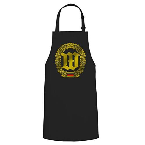 Bataillon de Garde wachbtl emblème insigne blason BW Griller Party cadeau unique – Tablier/Tablier de barbecue # 16829 - Noir - Taille unique