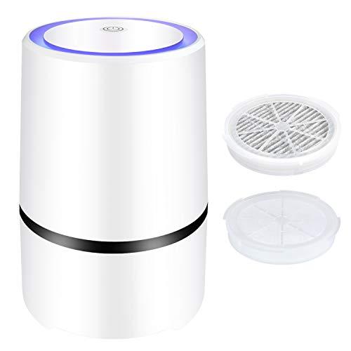 Purificador de aire filtro de carbón activado HEPA y filtro de aromaterapia,para un rendimiento del filtro del 99,97%,filtro de aire de iones negativos USB,humo de cigarrillo,bacterias, polvo,