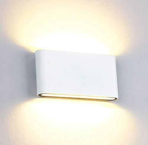 Louvra Applique Murale Led 12W Salle De Bain Intérieure Extérieure Étanche Lampe Décorative Moderne Créatif Éclairage Design Lumiaire En Aluminium Pour Chambre Maison Couloir Salon Blanc Chaud