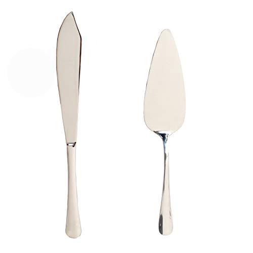 Besch Pala y Cuchillo para Tarta set de 2 Piezas de Acero Inoxidable (Pala y Cuchillo de Tarta)