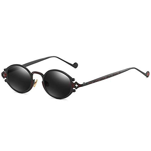NJJX Gafas De Sol Steampunk Redondas Retro Para Mujer, Gafas De Sol Punk Vintage Para Hombre, Montura Ovalada Gótica, Gafas De Sol De Metal Talladas, Clásicas 1