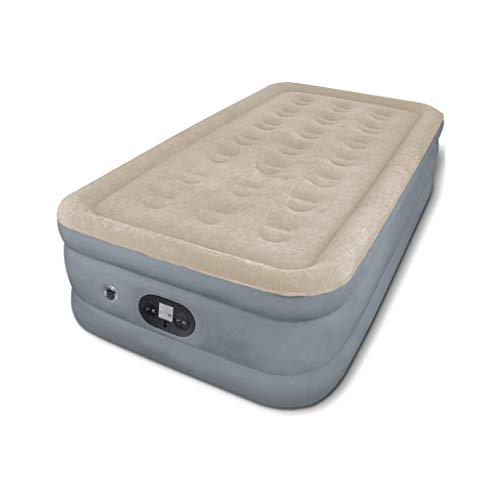Zholmei Opblaasbaar bed met twee lagen, dubbellaags opblaasbaar luchtbed met ingebouwde elektrische pomp