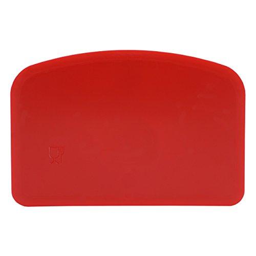 Espátula flexible Schlesinger Standart de polipropileno apta para alimentos (dimensiones: 146x 98x 1,65mm) en varios colores, polipropileno, rojo, 1 unidad