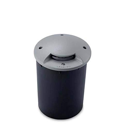 Leds-C4 Xena - Lámpara empotrable LED para exterior empotrable gris 13cm 128lm 4200K IP67