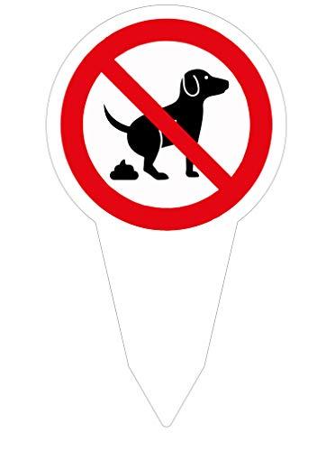 Schild Verbot Hier Kein Hundeklo / 280 x 160 mm - Direktdruck auf 4 mm starker AluDibond Verbundplatte