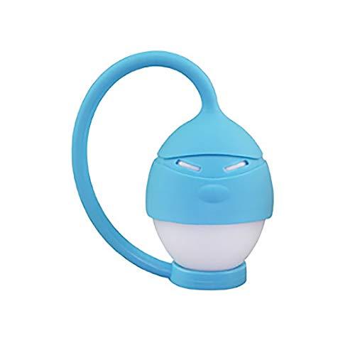 Dinglong Lumière LED,Mignon LED lampe de silicone portable USB nuit lumière lit de bureau décoration de maison (Bleu)