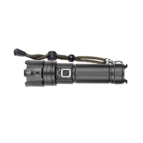 Luci da Esterno Torcia Luminosa A LED XHP70. 2 Con Display Della Batteria Torcia Tattica A LED Impermeabile Zoom Telescopico Utilizzato Per L'avventura, La Caccia Catena Luminosa Esterno (Size : 5)