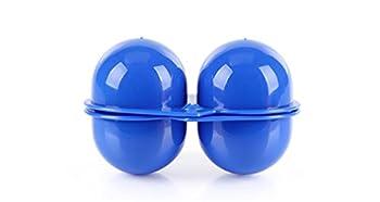 CFtrum Portable Porte-Oeufs/Boîte à Oeufs en Plastique pour Camping et Pique-Nique (2 Grilles, Couleur Bleu)