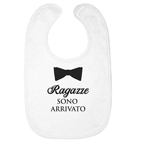 Shirtgeil Ragazze Sono Arrivato con Papillon - Regalo Neonati Bavaglini Neonato One Size Bianco