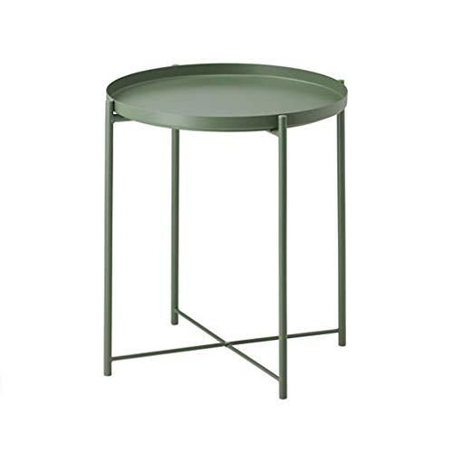 L-Life Tische Beistelltische Beenden Tisch Metall Tablett Sofa Tisch Beistelltisch Kleine Runde Tisch, Anti-Rost und Wasserdichte Outdoor & Indoor Gebrauch Snack Tisch, Größe: 44 * 52 cm