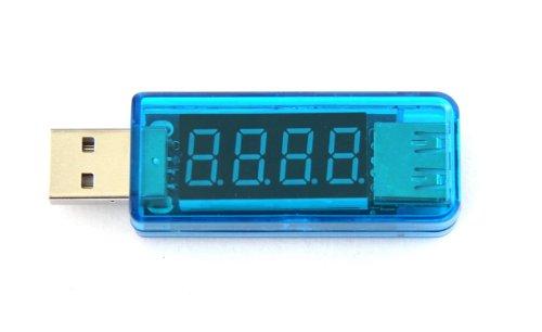 New USB Voltage Current Multimeter-USB Power Meter USB Tester Monitor - USB Meter 2.0/3.0 Amp Volt LED reader - Ultra Portable Durable V/A Measure - Best Voltmeter for Smartphone Tablet Gadget USB