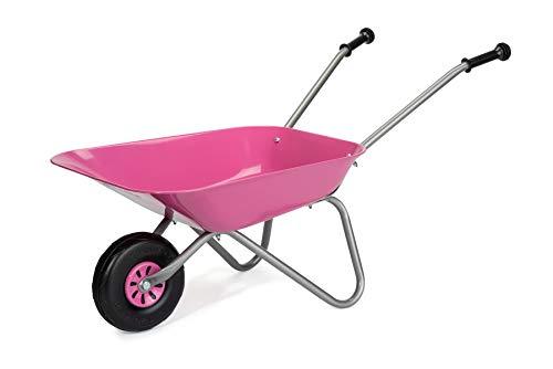 ROLLY TOYS Partir de 2,5 años, Carretilla Infantil, Cuenco de Metal, Asas de plástico, máx. Soporta hasta 25 kg, Color Rosa (274802)