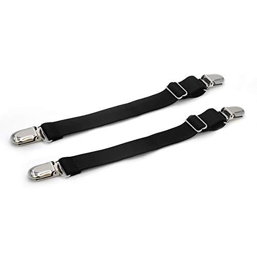 ExeQianming Stiefelriemen, schwarz, verstellbar, rutschfester Clip, für Sofa, Tisch, Jeans